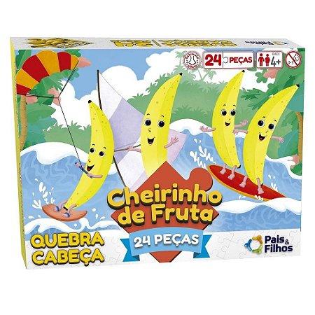 Quebra-Cabeça 24 Peças Cheirinho de Fruta Banana - Pais & Filhos