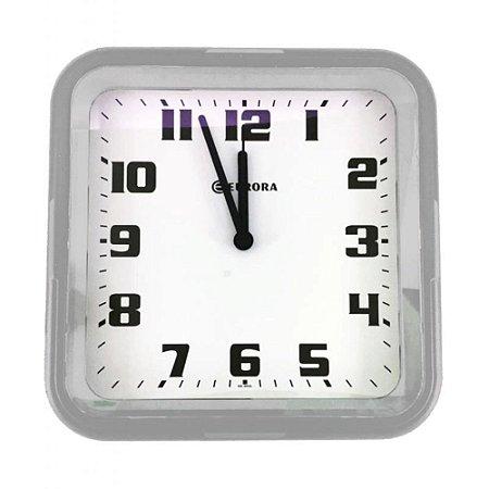 Relógio de Parede Quadrado Branco - Eurora