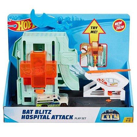 Ataque dos Morcegos no Hospital Hot Wheels - Mattel
