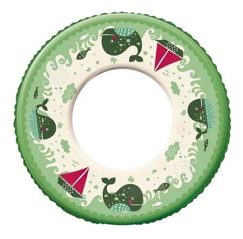 Boia Infantil Verde Inflável Redonda Plástica Ø 60cm - Mor