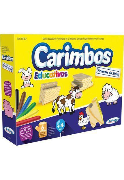 Carimbos Educativos Animais Do Sitio - Xalingo
