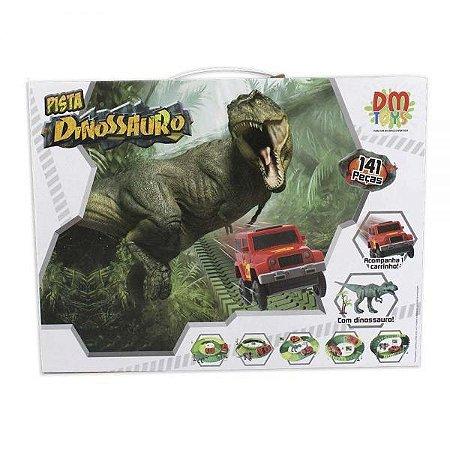 Pista Dinossauro Track 141 Peças - Dm Toys
