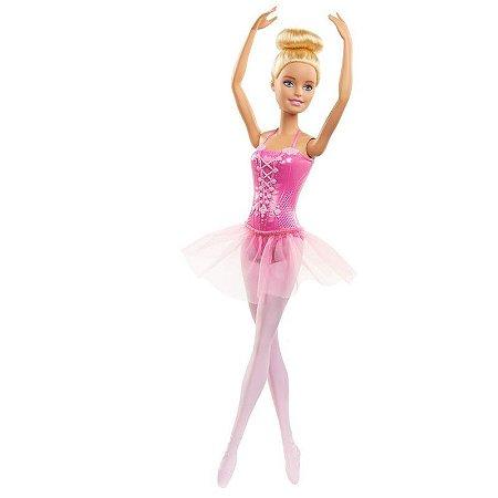 Boneca Barbie Bailarina Loira Rosa - Mattel