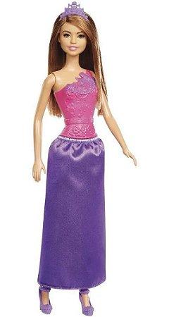 Barbie Fantasia Princesas Boneca Morena - Mattel