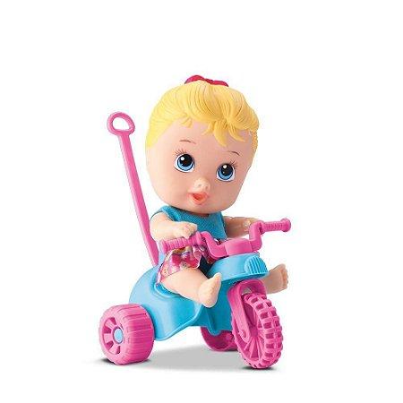Boneca Triciclo Menina Little Dolls Playground - Divertoys
