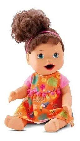 Boneca My Little - Primeira Papinha Morena- Diver Toys