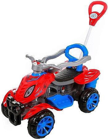 Carrinho De Passeio/Pedal Infantil Com Empurrador Criança Spider - Maral