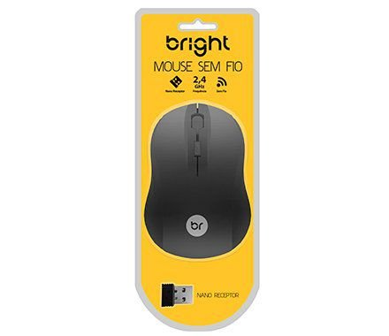 Mouse Sem Fio preto - Bright