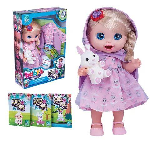 Babys Collection Boneca Contos De Fadas Loira - Super Toys