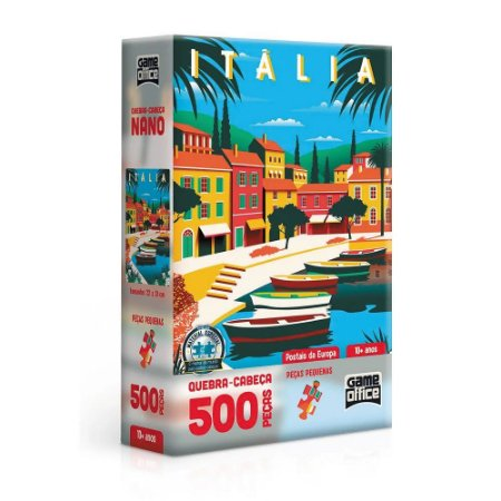 Quebra-Cabeça 500 Peças Cartões Postais da Europa - Itália  - Toyster
