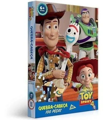 Jogo Quebra Cabeça Toy Story 4 /100PCS - Toyster