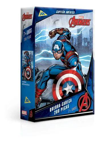 Jogo Quebra-Cabeça Capitão America 200PCS - Toyster