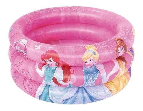 Banheira Inflável Princesas 38 litros Rosa Menina - Mor