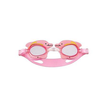 Óculos de Natação Antiembaçante Bichinho Golfinho Rosa - Mor