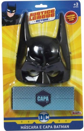 Mascara E Capa Batman Liga Da Justiça Rosita