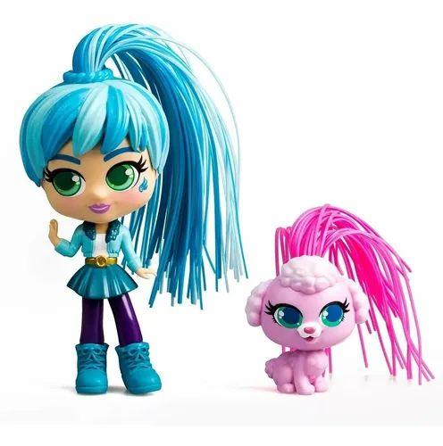 Boneca Curli Girls e Mascote - Rosita