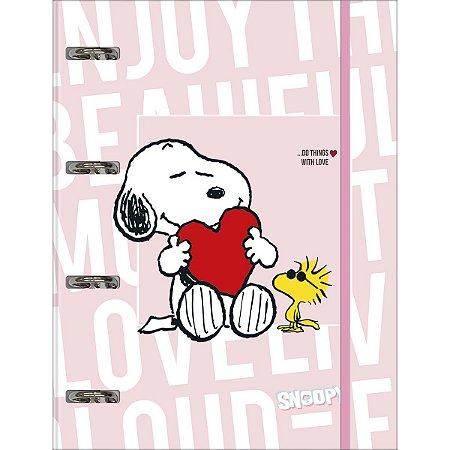 Caderno Argolado Cartonato Snoopy Tilibra