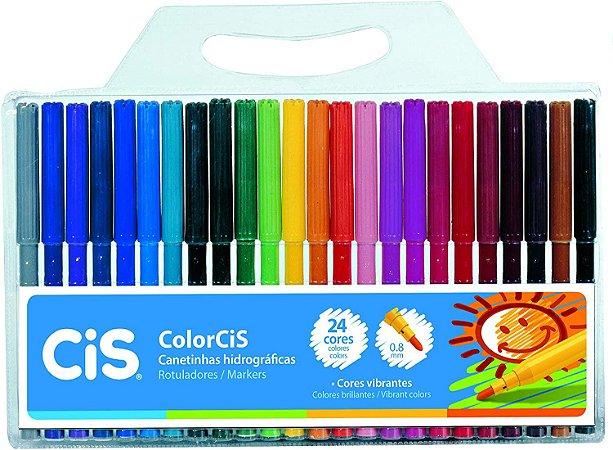 Canetinhas Hidrográficas Colorcis  24 cores - CIS
