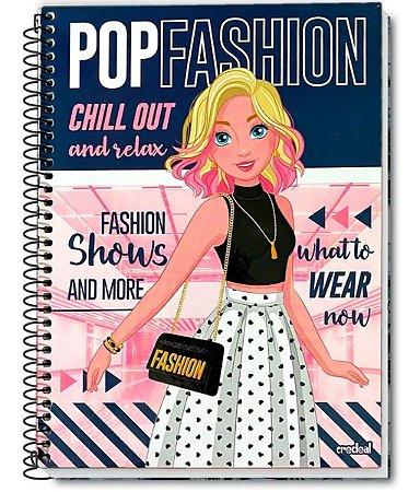 Caderno Pop Fashion Loira Espiral 10 Matérias 200 Folhas - Credeal