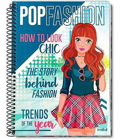 Caderno Pop Fashion Ruiva Espiral 10 Matérias 200 Folhas - Credeal