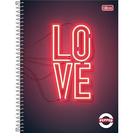 Caderno Espiral Univ. 1 Materia Feminino Pepper LOVE - Tilibra