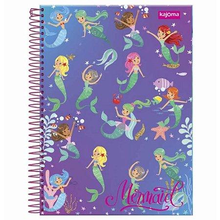 Caderno universitário 10x1 200 folhas capa dura  Kajoma -