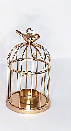 Castiçal de Metal Dourado - Amigold