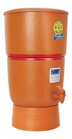 Filtro de Barro para Água São João Premium 6 Litros 2 Velas - Stéfani - Cerâmica Stéfani