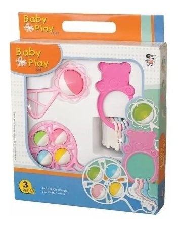 Chocalho E Mordedor P/ Bebê Baby Play Set - Brinquedos