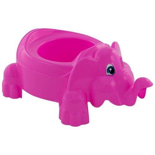Troninho Infantil Penico Bebê Elefante Rosa
