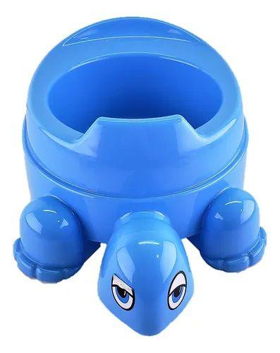 Troninho Infantil Penico Bebê Tartaruga Azul