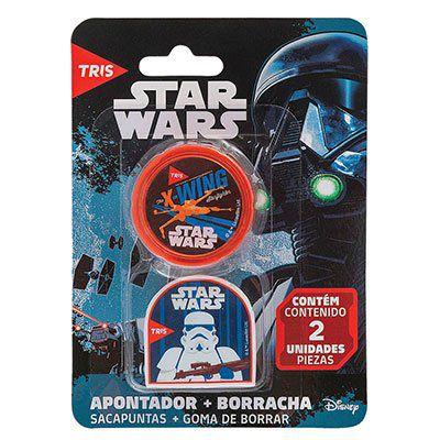 Conjunto De Apontador + Borracha Stars wars - Tris