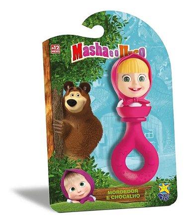 Chocalho Mordedor Da Masha E O Urso Diver Toys