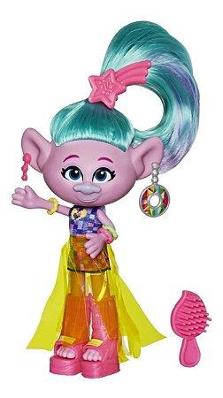 Mini Boneca Fashion com Acessórios Cetim - Trolls World Tour - Hasbro