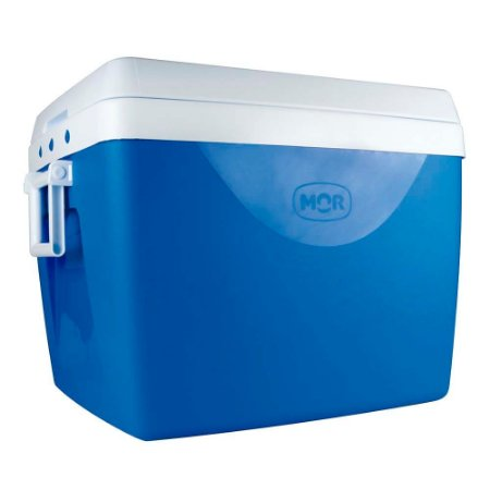 Caixa Térmica com Divisória e Alças Laterais 75 Litros Azul Mor