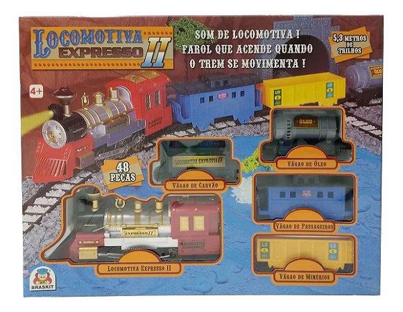 Locomotiva Expresso Ii Com Som Farol 8000 - Braskit