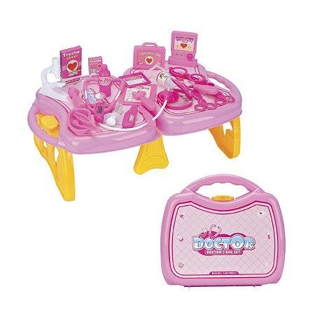 Conjunto Maleta Médica Infantil Doutor Diversão Rosa - Fenix Brinquedos