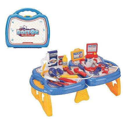 Conjunto Maleta Médico Infantil Doutor Diversão Azul - Fenix Brinquedos