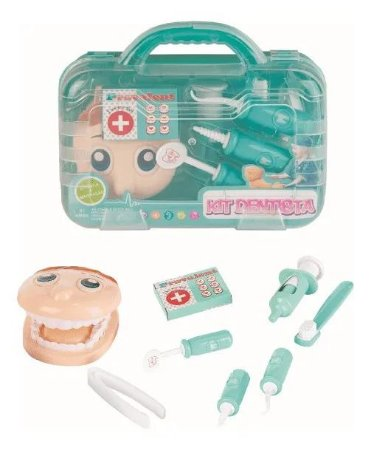 Conjunto Kit Dentista Infantil Maleta 8 Peças - Fenix