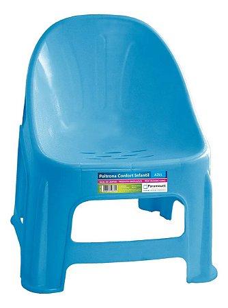 Cadeira Poltrona Confort Infantil Azul - Paramount
