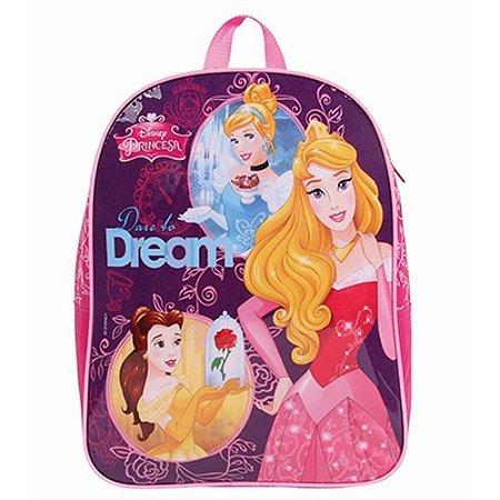 Mochila Escolar G Disney Princesas Rosa/roxo - Dermiwil