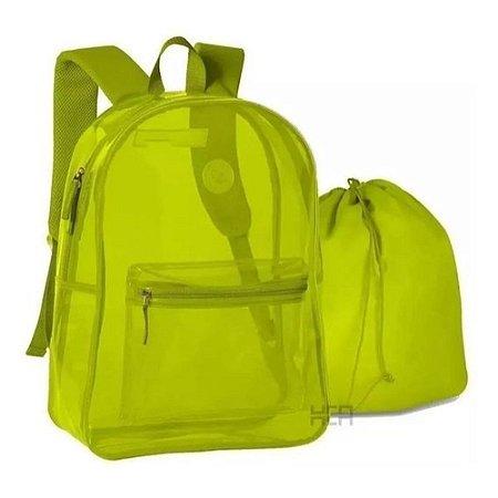 Mochila de Costas Amarelo Neon - Clio