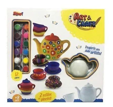 Coleção Art & Craft - Conjunto De Chá - Zoop Toys
