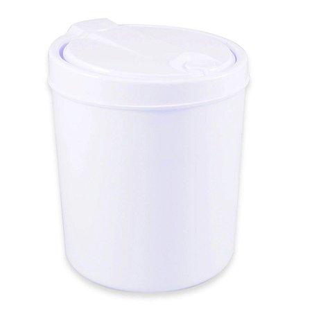 Lixeira Pia Clic 6 Litros Branca - Viel