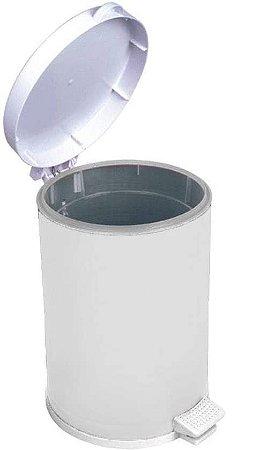 Lixeira Branca Com Pedal Recipiente Plástico 10,5 Litros - Viel