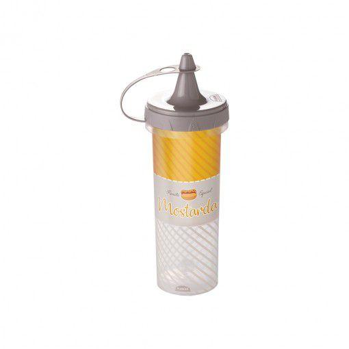 Bisnaga de Plástico 250 ml para Mostarda Cinza - Plasutil