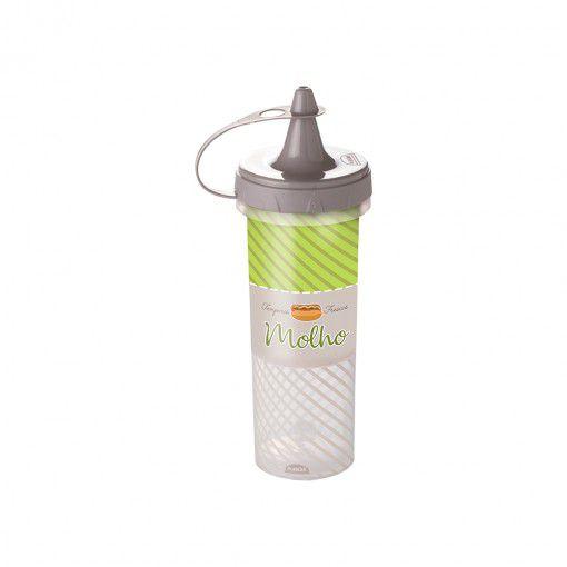 Bisnaga de Plástico 250 ml para Molhos Cinza - Plasutil