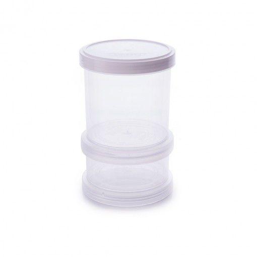 Conjunto Organizador de Plástico Empilhável com Tampa Rosca 2 Unidades - Plasutil