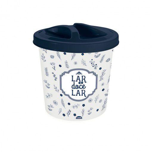 Lixeira de Plástico 2,5 L com Tampa para Pia Fazenda Cinza - Plasutil