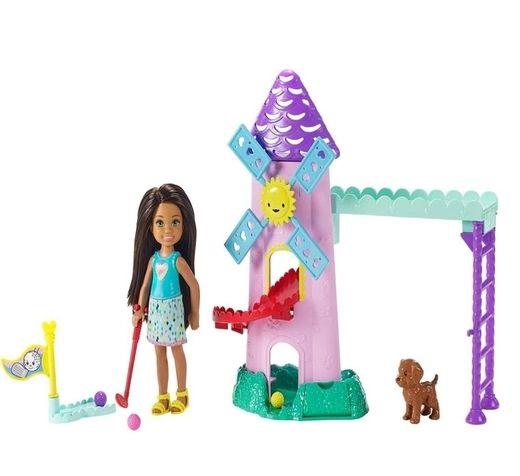 Barbie Conjunto Club Chelsea Morena E Moinho De Golf - MATTEL